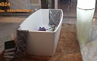 Freestanding corian bathtub